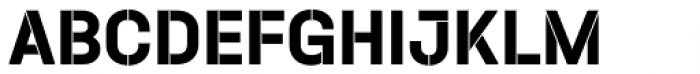 Halvar Stencil Mittelschrift Bold MinGap Font UPPERCASE