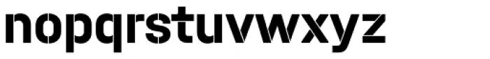 Halvar Stencil Mittelschrift Bold MinGap Font LOWERCASE