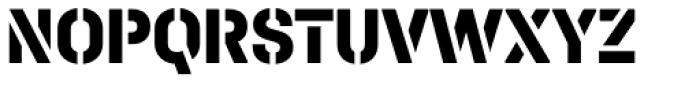 Halvar Stencil Mittelschrift ExtraBold MaxGap Font UPPERCASE