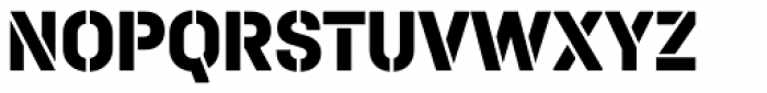 Halvar Stencil Mittelschrift ExtraBold MidGap Font UPPERCASE