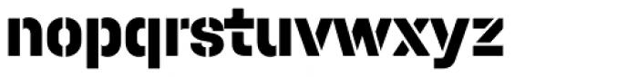 Halvar Stencil Mittelschrift ExtraBold MidGap Font LOWERCASE