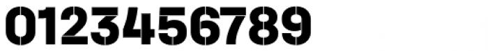 Halvar Stencil Mittelschrift ExtraBold MinGap Font OTHER CHARS