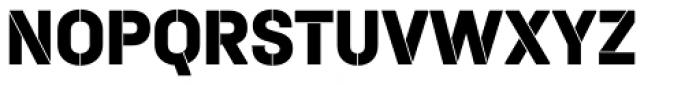 Halvar Stencil Mittelschrift ExtraBold MinGap Font UPPERCASE