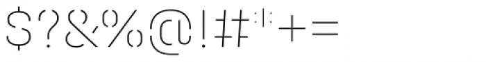 Halvar Stencil Mittelschrift ExtraThin MaxGap Font OTHER CHARS
