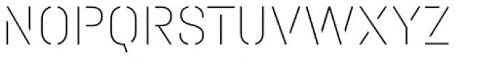 Halvar Stencil Mittelschrift ExtraThin MaxGap Font UPPERCASE
