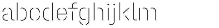 Halvar Stencil Mittelschrift ExtraThin MaxGap Font LOWERCASE