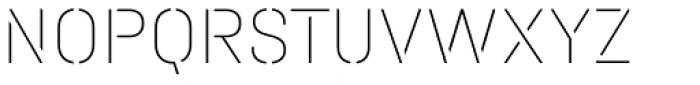 Halvar Stencil Mittelschrift ExtraThin MidGap Font UPPERCASE