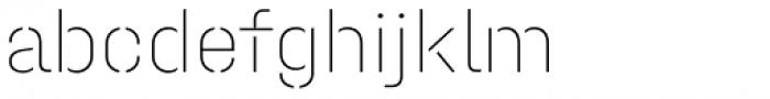 Halvar Stencil Mittelschrift ExtraThin MidGap Font LOWERCASE