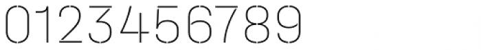Halvar Stencil Mittelschrift ExtraThin MinGap Font OTHER CHARS