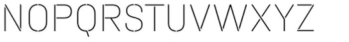 Halvar Stencil Mittelschrift ExtraThin MinGap Font UPPERCASE