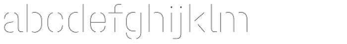 Halvar Stencil Mittelschrift Hairline MaxGap Font LOWERCASE