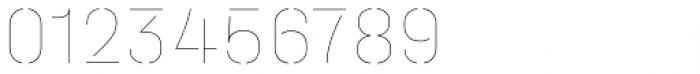 Halvar Stencil Mittelschrift Hairline MidGap Font OTHER CHARS