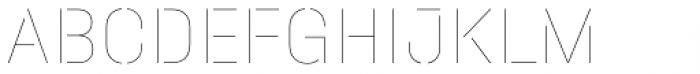 Halvar Stencil Mittelschrift Hairline MidGap Font UPPERCASE