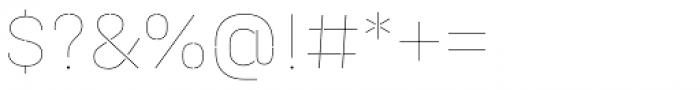 Halvar Stencil Mittelschrift Hairline MinGap Font OTHER CHARS