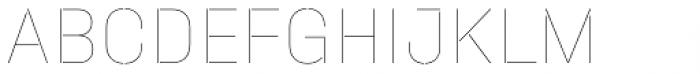 Halvar Stencil Mittelschrift Hairline MinGap Font UPPERCASE