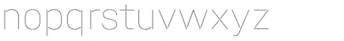 Halvar Stencil Mittelschrift Hairline MinGap Font LOWERCASE