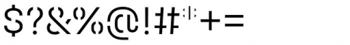 Halvar Stencil Mittelschrift Light MaxGap Font OTHER CHARS