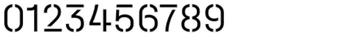Halvar Stencil Mittelschrift Light MidGap Font OTHER CHARS