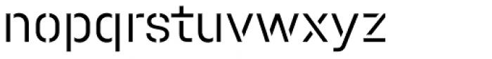 Halvar Stencil Mittelschrift Light MidGap Font LOWERCASE