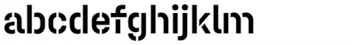 Halvar Stencil Mittelschrift Medium MidGap Font LOWERCASE
