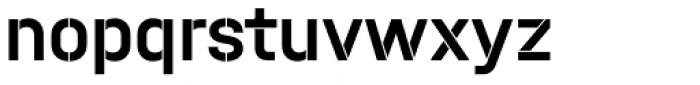Halvar Stencil Mittelschrift Medium MinGap Font LOWERCASE