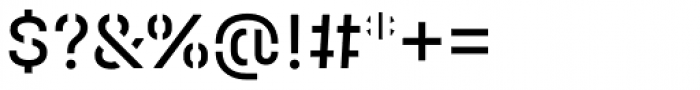 Halvar Stencil Mittelschrift Regular MaxGap Font OTHER CHARS