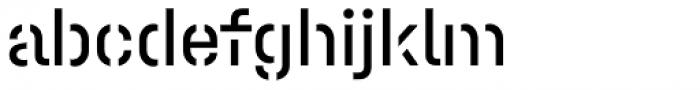 Halvar Stencil Mittelschrift Regular MaxGap Font LOWERCASE