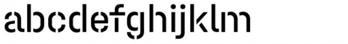 Halvar Stencil Mittelschrift Regular MidGap Font LOWERCASE
