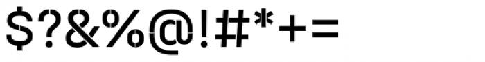 Halvar Stencil Mittelschrift Regular MinGap Font OTHER CHARS