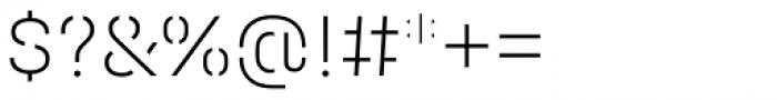 Halvar Stencil Mittelschrift Thin MaxGap Font OTHER CHARS