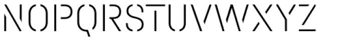 Halvar Stencil Mittelschrift Thin MaxGap Font UPPERCASE