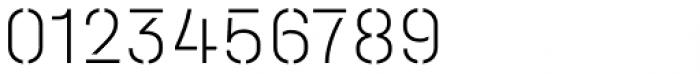 Halvar Stencil Mittelschrift Thin MidGap Font OTHER CHARS