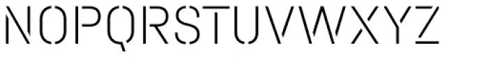 Halvar Stencil Mittelschrift Thin MidGap Font UPPERCASE