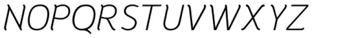Halvorsen Pro Light Italic Font UPPERCASE