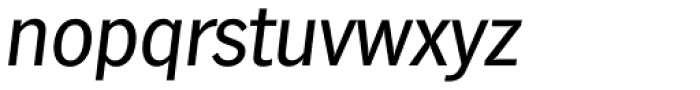 Hamburg TS Italic Font LOWERCASE