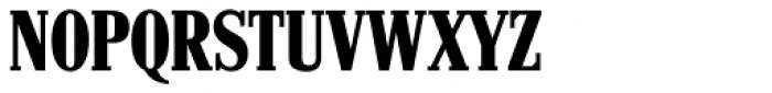 Hancock RR Bold Condensed Font UPPERCASE