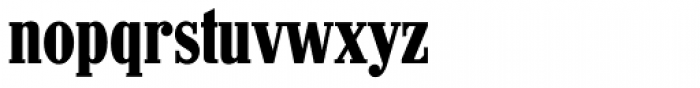 Hancock RR Bold Condensed Font LOWERCASE