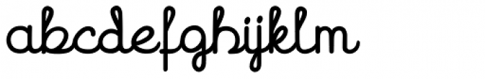 Hand Cursive Bold Font LOWERCASE