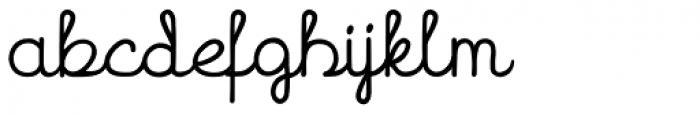 Hand Cursive Font LOWERCASE