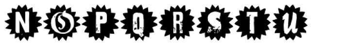 Hand Print Stamp Rough Star PRO Font UPPERCASE
