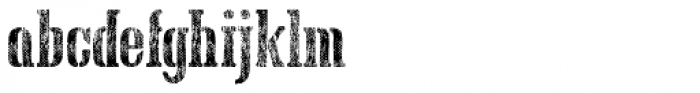 Hand Printing Press Meshed Font LOWERCASE