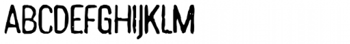 Hand Stamp Gothic Rough Regular Font UPPERCASE