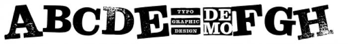 Hand Stamp Slab Serif Rough Mix DEMO Font UPPERCASE