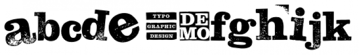 Hand Stamp Slab Serif Rough Mix DEMO Font LOWERCASE