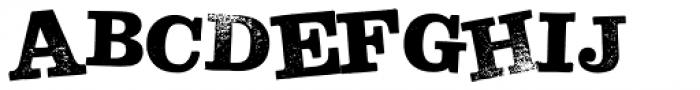 Hand Stamp Slab Serif Rough Mix Font UPPERCASE