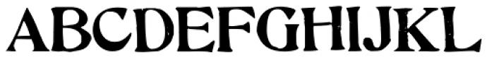 Hand Stamped JNL Font UPPERCASE