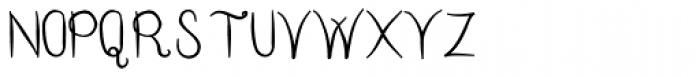 Hand Writing OC Font UPPERCASE