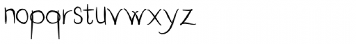Hand Writing OC Font LOWERCASE