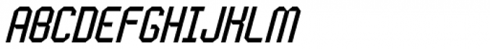Handheld Italic Font UPPERCASE