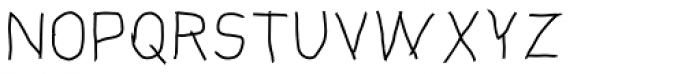Handjob Light Font UPPERCASE